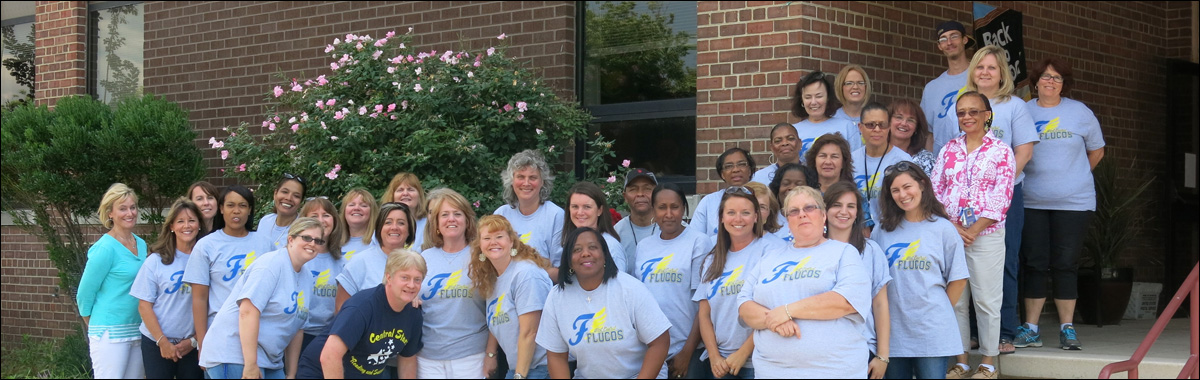 Picture of West Central Elementary School teachers taken on steps of school.