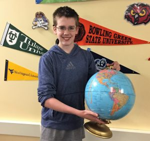 O'Connor- National Geographic Bee State Semifinalist 2017