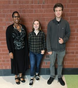 Margo Bruce, Principal; Bayley Leyshon and William Bridge